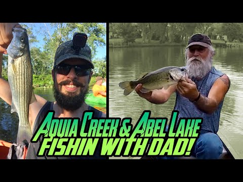 Fishing Aquia Creek & Abel Lake | Stafford, Virginia - Largemouth Bass, Striper, Crappie, Insta360!