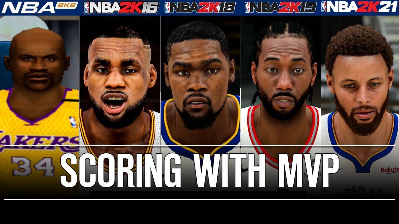 NBA 2K Scoring with season and finals MVPs