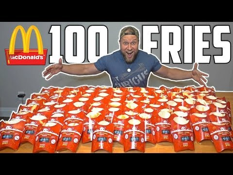 Download Youtube: 100 McDONALD's FRIES MONOPOLY EXPERIMENT CHALLENGE!