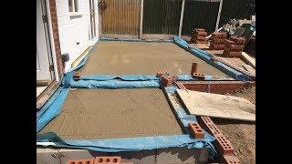 how to build an extension part 3 concrete floor slab