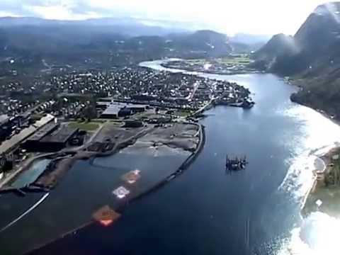 Med helikopter over Mosjøen - Tiendebytte 2005