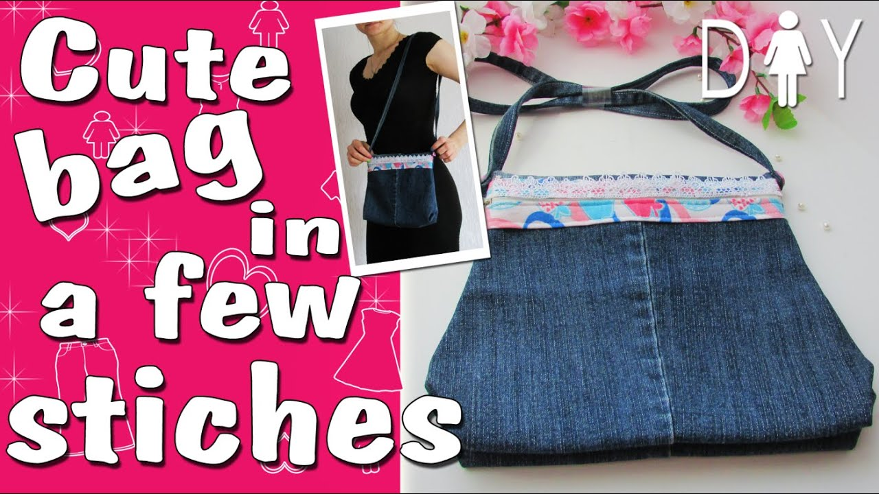 DIY Bag from the Old Jeans | Jeans Recycle - YouTube