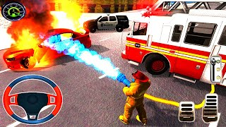 Fire Truck Driving Simulator 2021 - Best Android Gameplay