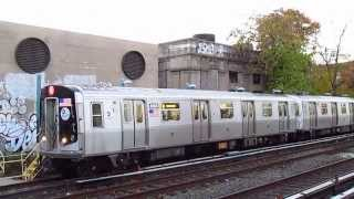 BMT Brighton Line: Coney Island bound R160B (Q) Local Train at Avenue H