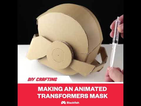 How To Make Transformers Hydraulic Mask Cardboard