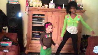 MY NEICE ARION AND TATI..DANCING TO AUBREY ODAY`S AUTOMATIC