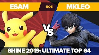 ESAM vs MkLeo - Winners' Semifinals: Ultimate Singles - Shine 2019 | Pikachu vs Joker