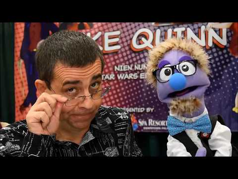 That Time Mike Quinn, Nien Nunb from Star Wars, gave a Puppet Masterclass to a Puppet