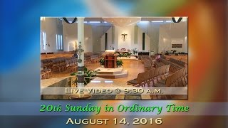 20th sunday in ordinary time mass at st charles august 14 2016