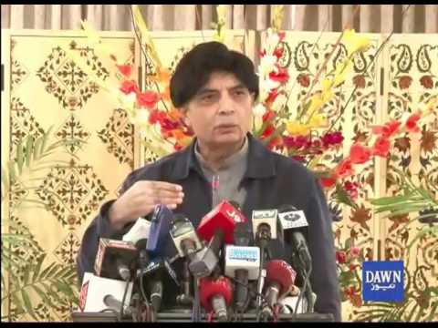 Ch. Nisar Talk to Media in Islamabad
