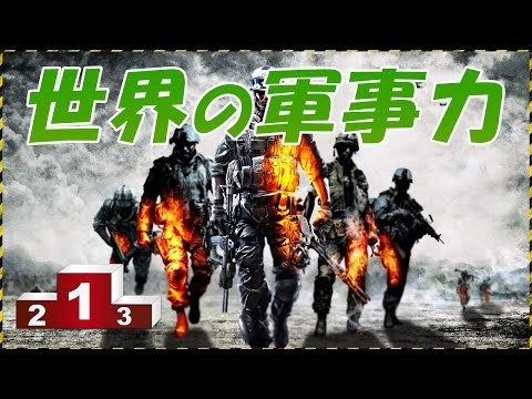 世界の軍事力ランキング!日本は何位?