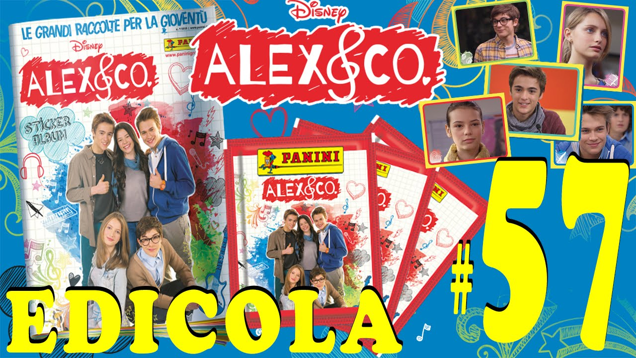 Edicola 57 alex co sticker collection 50 bustine for Karaoke alex e co