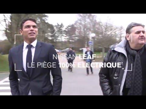 Thiago Silva piège Pierre Ménès en Nissan LEAF