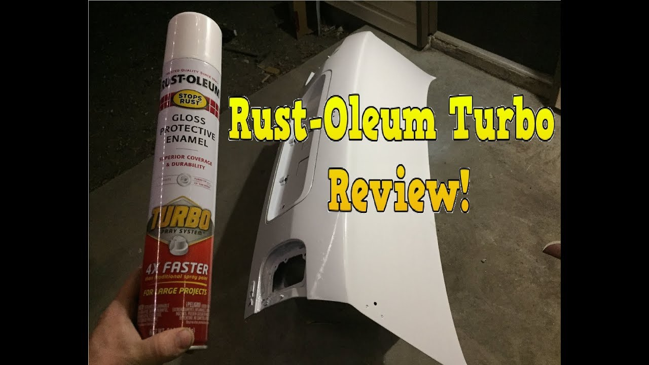 Rust-Oleum Turbo spray paint (REVIEW)