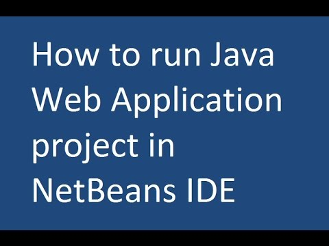 How to run Java Web Application project in NetBeans IDE