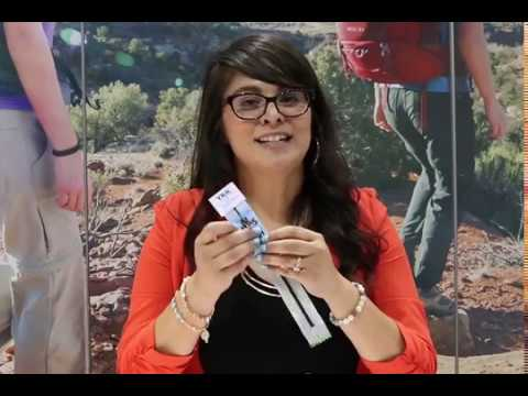 Stacy Larios introduces YKK's PRIFA® zipper tape at the Outdoor Retailer show