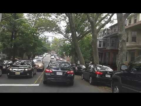 Driving in Weehawken, New Jersey, USA (part 1)