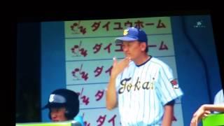 2017 千葉県高校野球選手権大会 東海大市原望洋 対 専修大松戸 球審のインターフェアからのボークまがいの牽制アウト