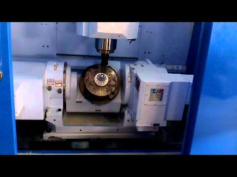 Tjr Cnc Tilting Rotary Table 5 Axis Dual Arm Type
