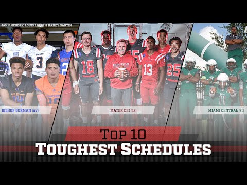 Toughest Schedules in High School Football