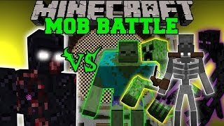 MUTANT OBSIDIAN GOLEM VS MUTANT ZOMBIE, CREEPER, ENDERMAN, & SKELETON - Minecraft Mob Battles - Mods