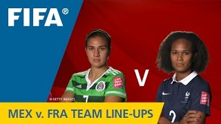 Mexico v. France - Team Lineups EXCLUSIVE
