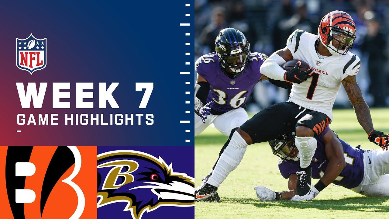 Bengals vs Ravens Week 7 Highlights  NFL 2021