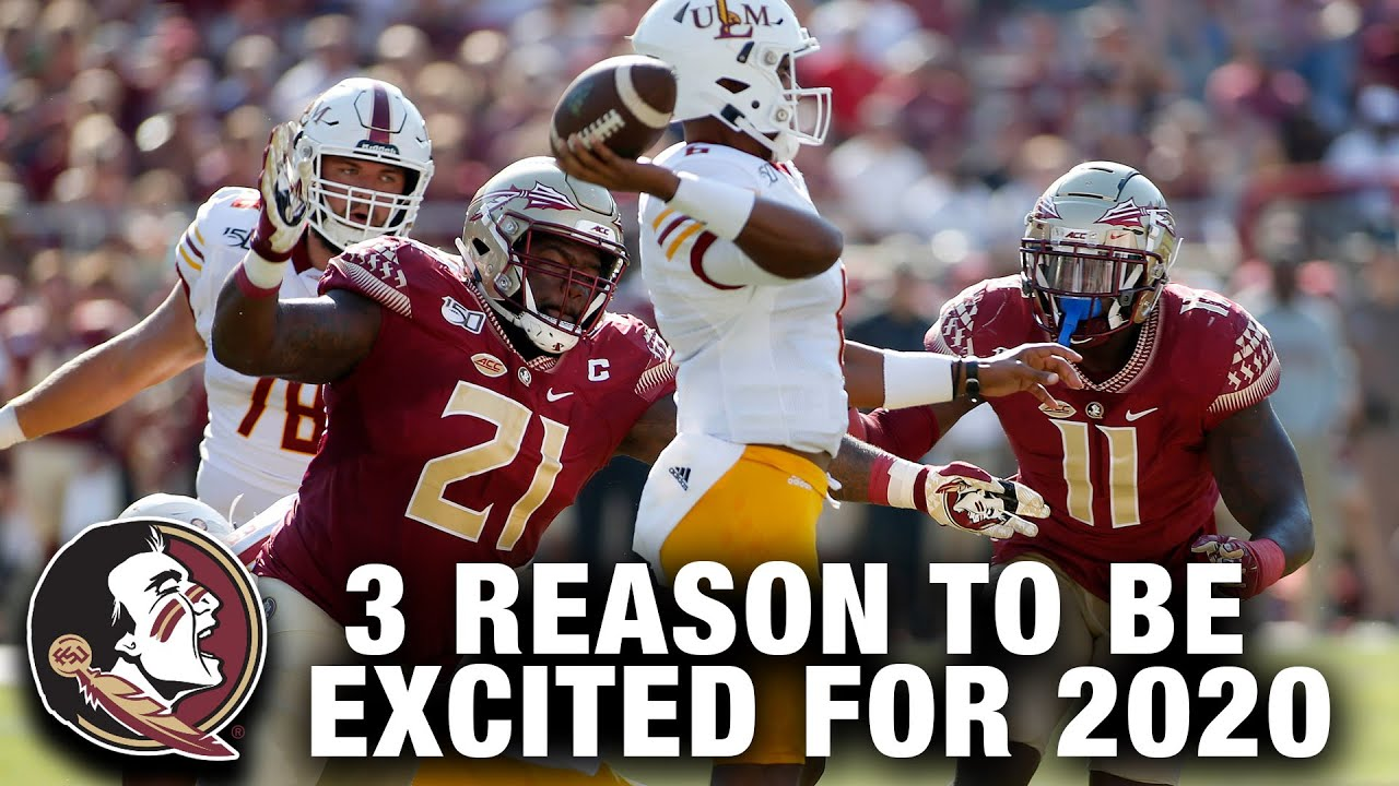 Florida State Football 3 Reasons To Be Excited For The 2020 Season Youtube