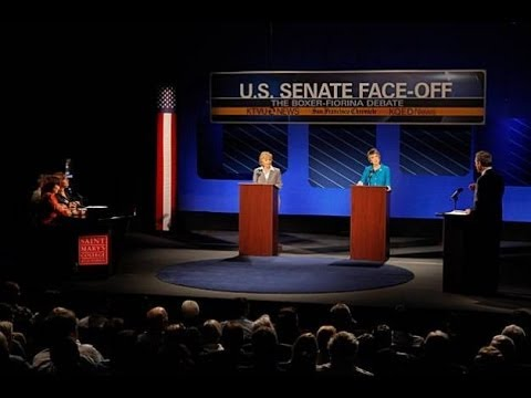 BARBARA BOXER-CARLY FIORINA DEBATE 9-1-10