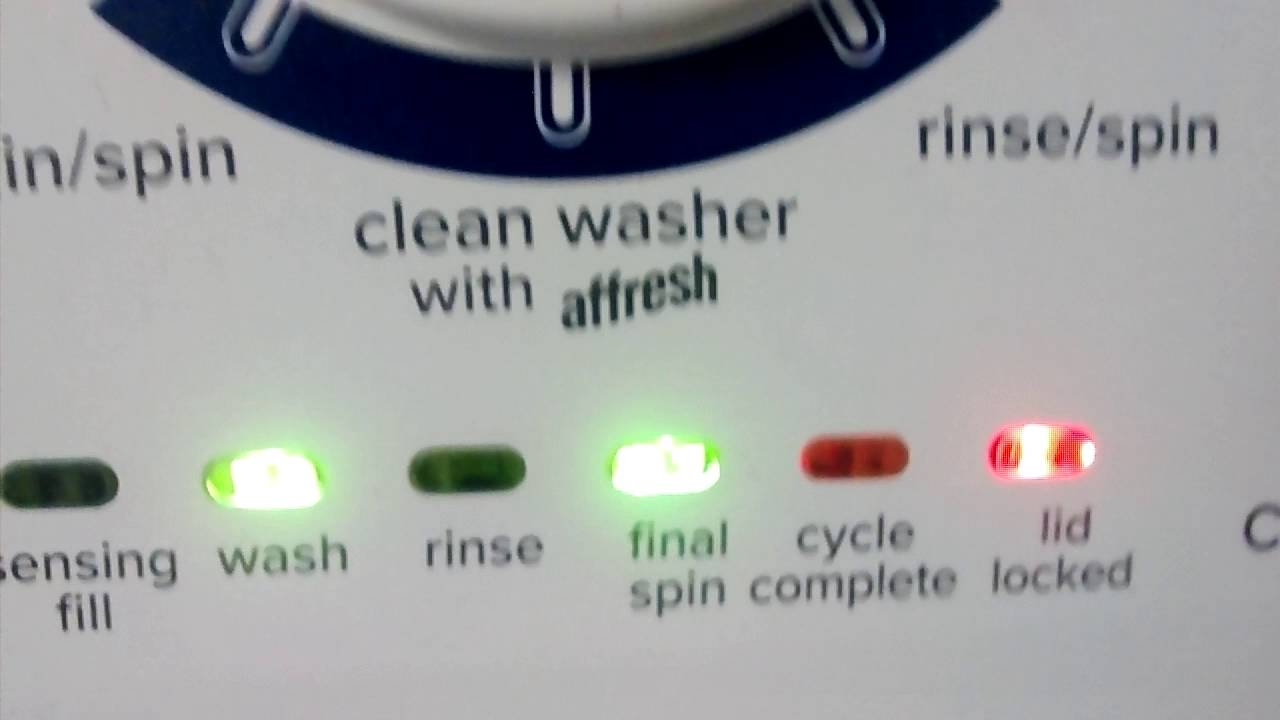 How to enter Amana washer into automatic diagnostic mode