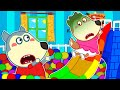 Lycan in Arabic 🌟 Lycan and Ruby Play Safe with Rainbow Ball Slide | Lycan's Funny Stories For Kids