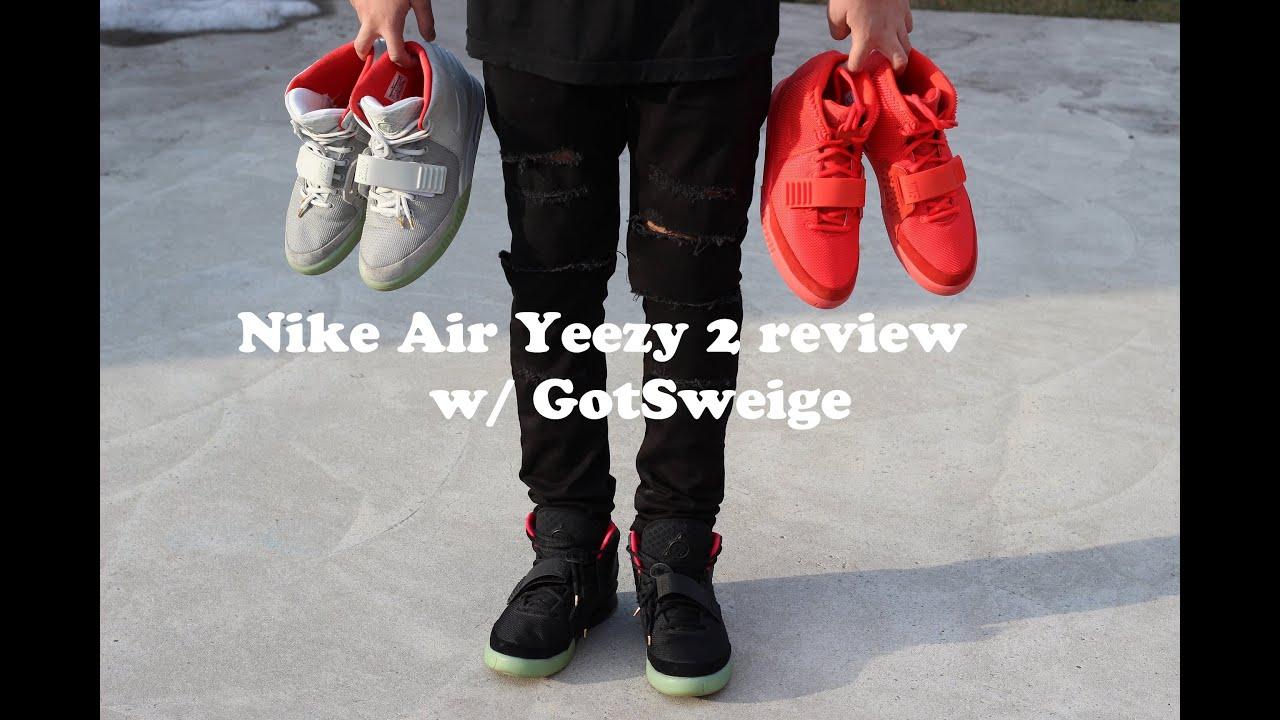 brand new d58a5 58e1e Nike Air Yeezy 2 review   Red October, Solar   Plats   Shot by  GotSweige