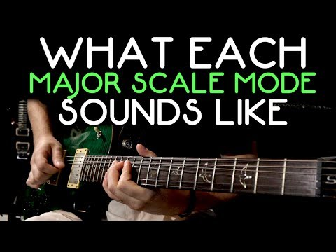 What Each Major Scale Mode Sounds Like