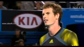 Andy Murray Roger Federer Mid Match Argument Fight Umpire Lovely
