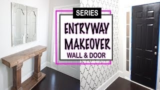 Diy Entryway Makeover | Wall Stencil | Decorating Ideas For Small Entryway Spaces | Decorate With Me