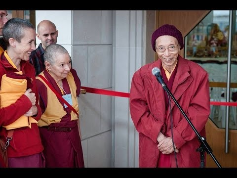 Venerable Geshe Kelsang Gyatso Opening The Portugal Temple