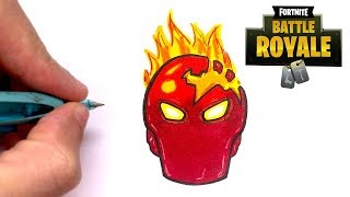 HOW TO DRAW INFERNO SKIN FORTNITE