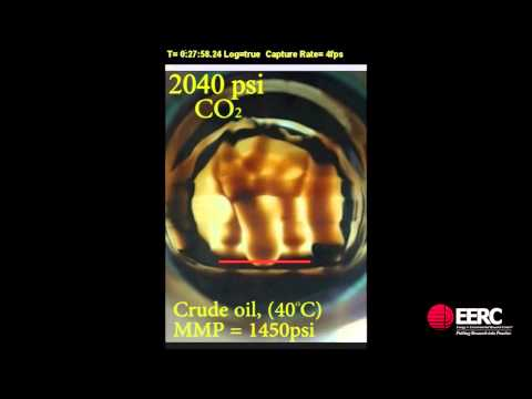 Pressurized CO2 and Crude Oil Interaction