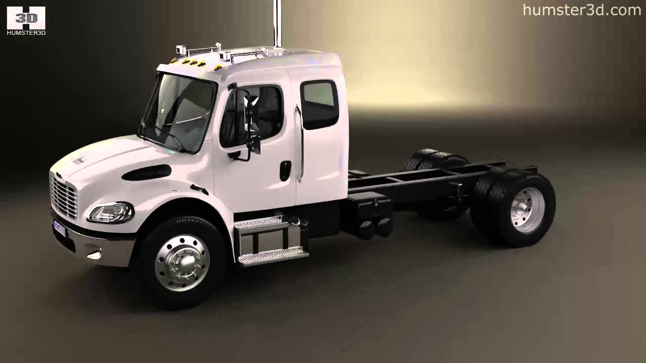 Freightliner M2 Extended Cab Chassis Truck 2014 By 3d