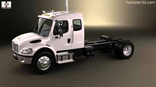 Freightliner M2 Extended Cab Chassis Truck 2014 by 3D model store Humster3D.com