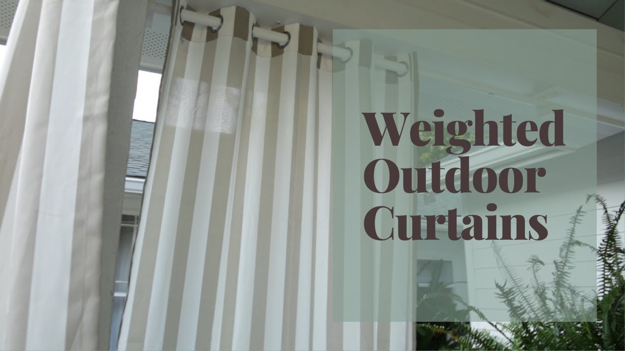 keep outdoor curtains from blowing in