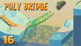 Schweres Auto, lange Brücke, wenig Geld! | 16 | POLY BRIDGE