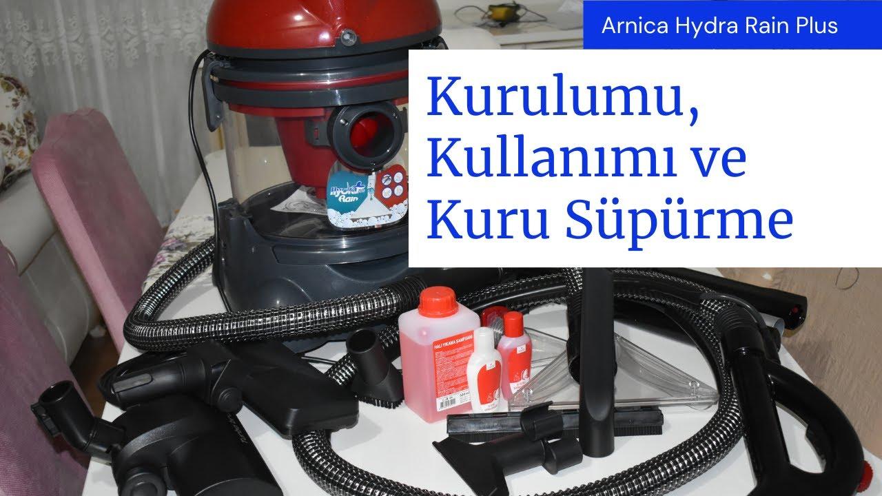 Arnica Hydra Rain Plus Halı Yıkama Makinesi Kurulumu, Kullanımı ve Kuru Süpürme