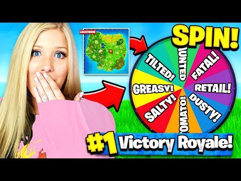 WIFE SPIN-THE-WHEEL DROP CHALLENGE In Fortnite: Battle Royale!