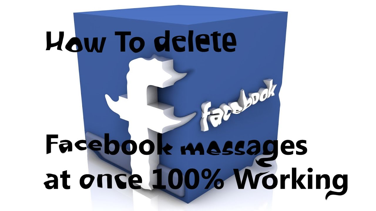 How To Delete Facebook Messages At One Click 100% Working Trick 2015