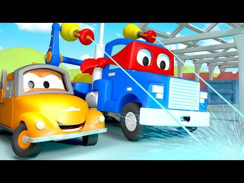 El Camion Soldador - Carl el Super Camión en Auto City   Dibujos animados para niños