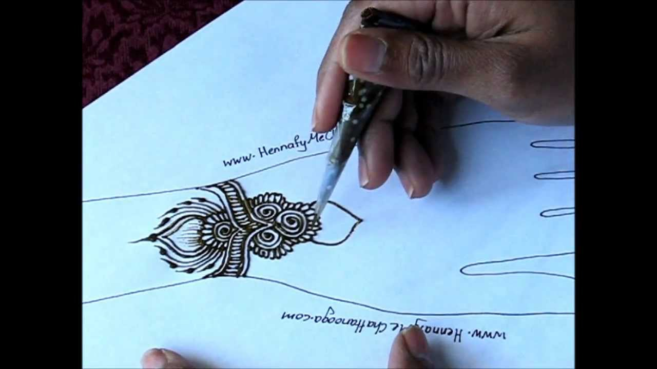 Mehndi Bracelet Design For Kids : Simple henna bracelet design in real time youtube