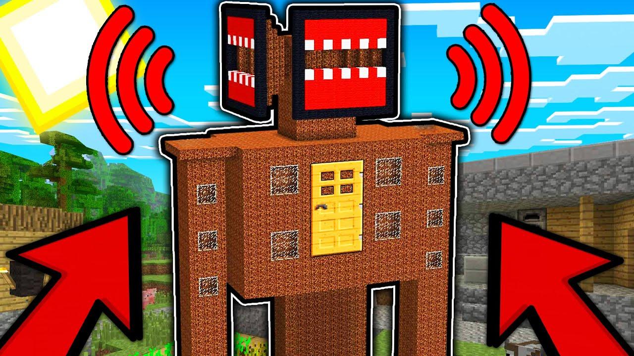 Как Сделать Дом СИРЕНА ГОЛОВА в Майнкрафт