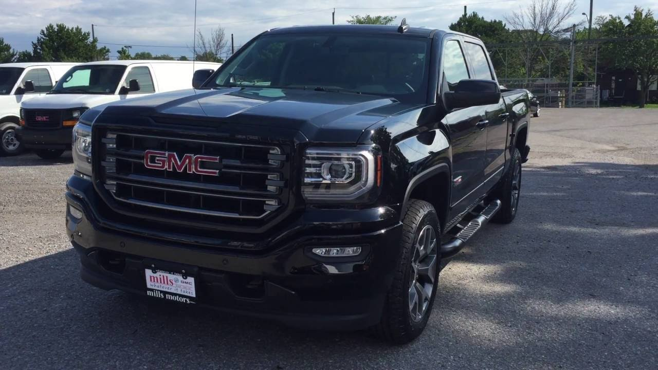 2017 Gmc Sierra Slt 1500 4wd Crew Cab All Terrain 8 Spd Transmission Black Oshawa On Stock 170051 You