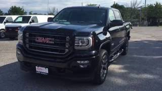 2017 GMC Sierra SLT 1500 4WD Crew Cab All Terrain 8 Spd Transmission Black Oshawa ON Stock# 170051